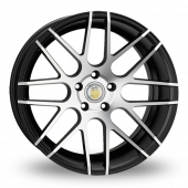 Cades Artemis Black Polished Alloy Wheels