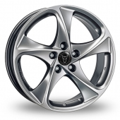 Wolfrace Catania Shadow Chrome Alloy Wheels