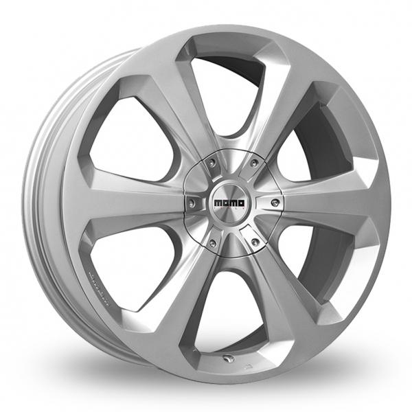 Momo Hexa Hyper Silver Alloy Wheels