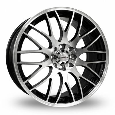 15 Inch Calibre Motion 2 Black Polished Alloy Wheels