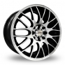17 Inch Calibre Motion 2 Black Polished Alloy Wheels