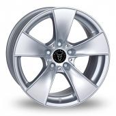 Wolfrace E Silver Alloy Wheels