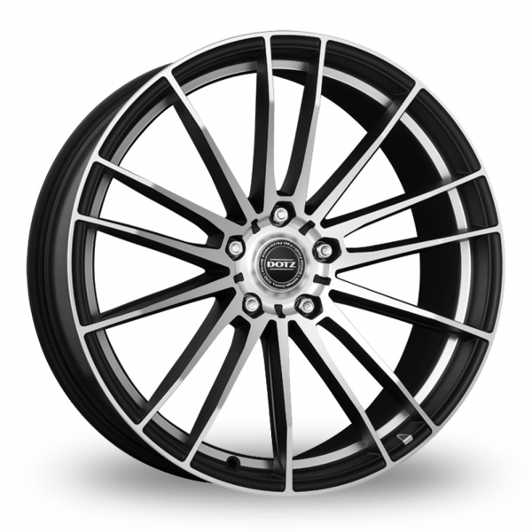 """Picture of 17"""" Dotz Fast Fifteen Black Polished"""