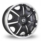 Konig Blix 1 Black Alloy Wheels