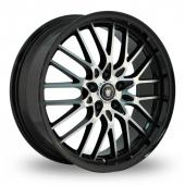Konig Lace Black Polished Alloy Wheels