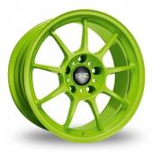 OZ Racing Alleggerita HLT Green Alloy Wheels