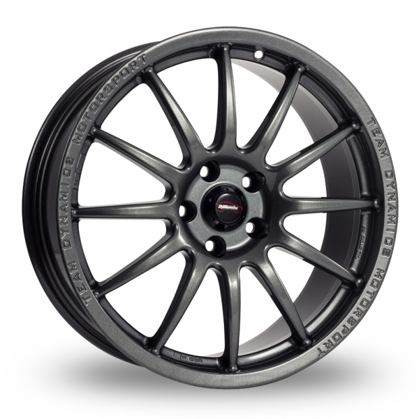 """17"""" Team Dynamics Pro Race 1.2 Gloss Anthracite Alloy Wheels"""