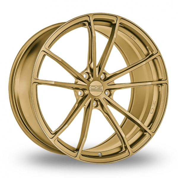 """Picture of 19"""" OZ Racing (Forged) Zeus Race Gold Wider Rear"""