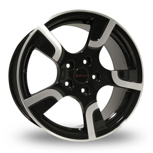 18 Inch Original Equipment Sportline 2 Black Polished Alloy Wheels