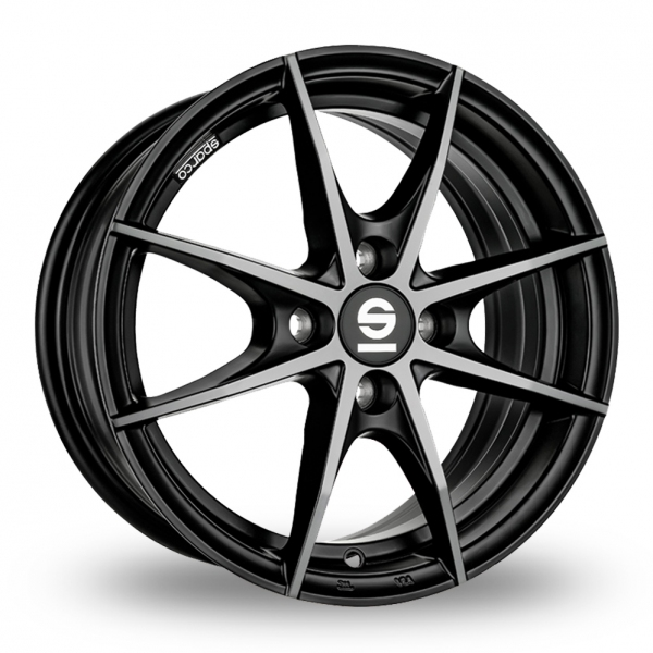 """Picture of 15"""" Sparco Trofeo 4 Black/Polished"""