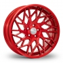 8.5x19 (Front) & 9.5x19 (Rear) VEEMANN V-FS35 Candy Red Alloy Wheels