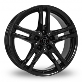 Wolfrace Bavaro Black Alloy Wheels
