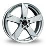 18 Inch Wolfrace Kodiak Polar Silver Alloy Wheels