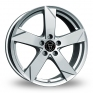 14 Inch Wolfrace Kodiak Polar Silver Alloy Wheels