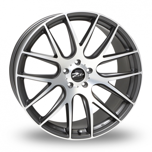 19 Inch Zito 935 Grey Polished Alloy Wheels